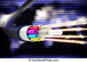 Speed of optic fiber