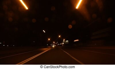 speed on night road time lapse