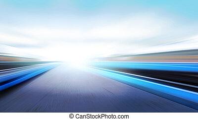 speed on the road - driving at high speed in empty road -...