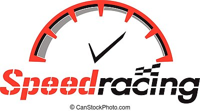 Speed racing logo. Vector graphic design