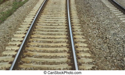 Speed Railroad View - Line and railroads seen in the speed...