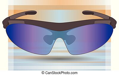 speed skating goggles for short-track on a gradient...