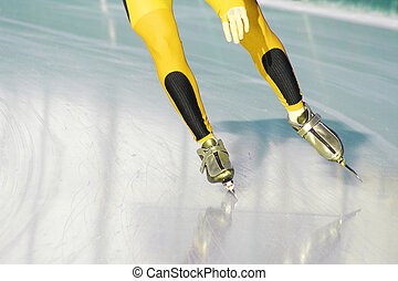speed skating on ice