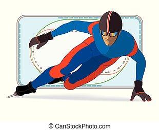 speed skating short track, male - short track speed skating,...