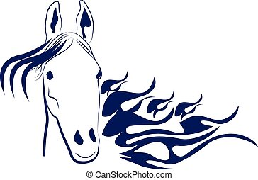 Speed stallion horse vector logo