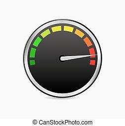 speed test meter vector
