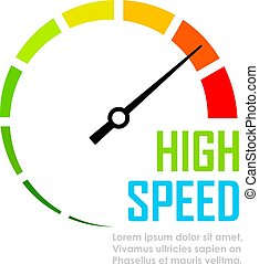 Speed tester dial face vector icon