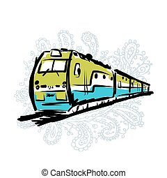 Speed train, sketch for your design