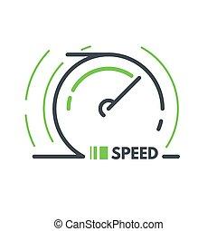 Speed vector icon