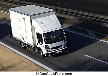 speed white shipping on highway