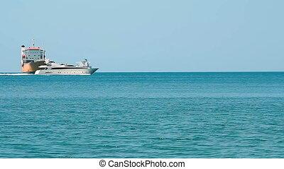 speed yacht in open waters