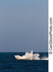 Speedboat at sea
