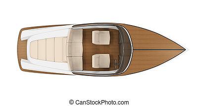 Speedboat Isolated - Speedboat isolated on white background...