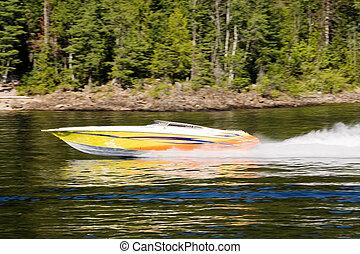 speedboat, lago