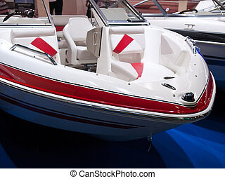 Speedboat motorboat - Modern design speedboat motorboat in...