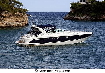 Ocean Going speedboat
