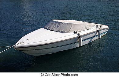 Speedboat - Parked speedboat.