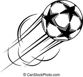 Speeding ball with black stars