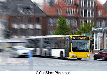 Speeding bus