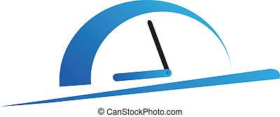 Speeding control vector logo