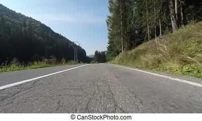 Speeding front camera on the car