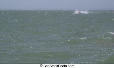 Speeding On Water Motorbike, Lady Elliot Island