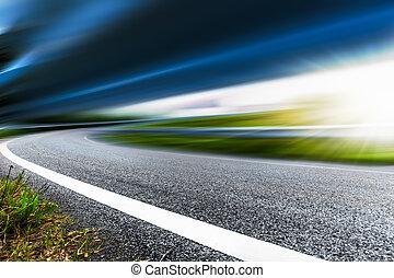 speeding road
