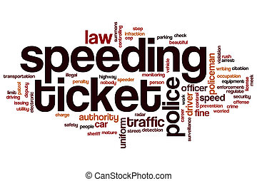 Speeding ticket word cloud