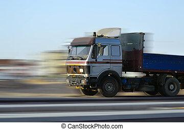 Speeding Truck and the motionblur