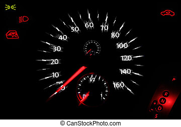 Speedo dial from a car