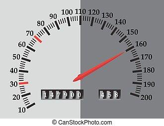 Speedo Red Needle - A speedometer design with red needle