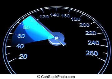 Speedometer - Abstract speedometer. On black background....