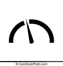 Speedometer and tachometer icon Illustration design