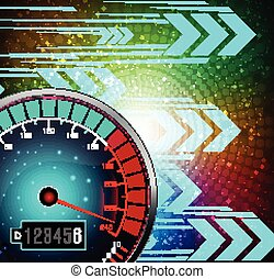 Speedometer background