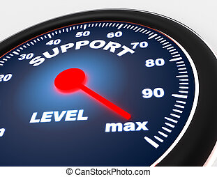 Speedometer concept on white background . 3d rendered illustration