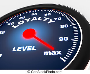 Speedometer concept on white background . 3d rendered illustration