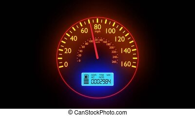 Speedometer fast car automobile speed dashboard accelerate...