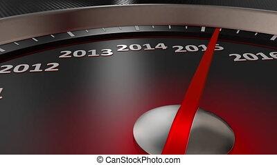 speedometer Happy New Year 2020 - The speedometer indicates...