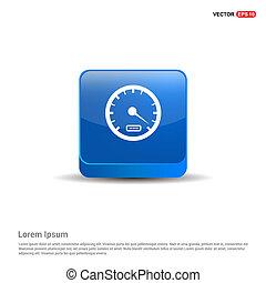 Speedometer Icon - 3d Blue Button
