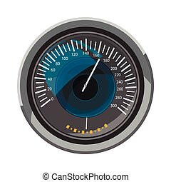 Speedometer icon, cartoon style