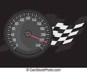 Speedometer. Icon for design