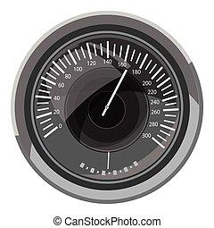 Speedometer icon, gray monochrome style
