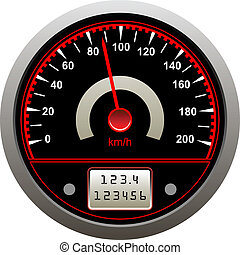 Speedometer icon - Icon of tachometer or speedometer in...