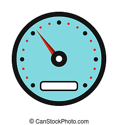 Speedometer icon in flat style