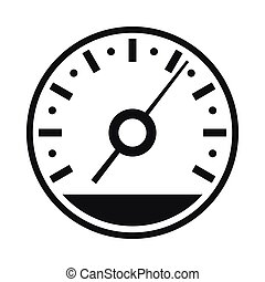 Speedometer icon in simple style
