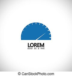 speedometer icon of car, automobile or vehicle - concept vector