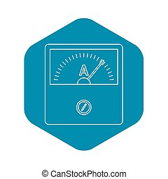 Speedometer icon, outline style