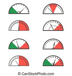 Speedometer icon set