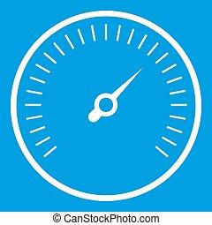 Speedometer icon white