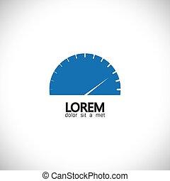 speedometer, ikon, i, automobilen, automobil, eller, køretøj, -, begreb, vektor
